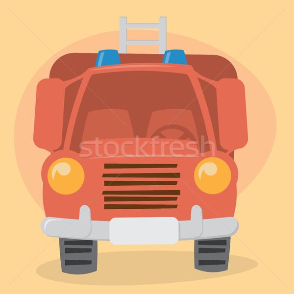 Desenho animado carro ver sorrir fogo Foto stock © graphit