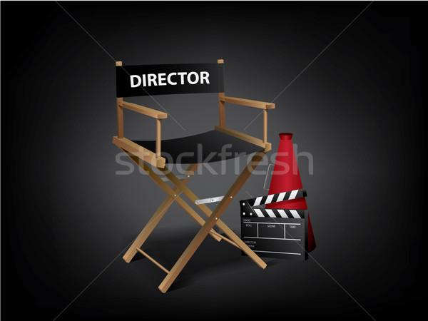 Filme diretor cadeira estrela cinema bilhete Foto stock © graphit