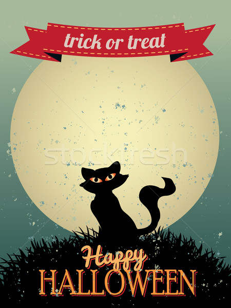 Happy Halloween Greeting Card Stock photo © graphit