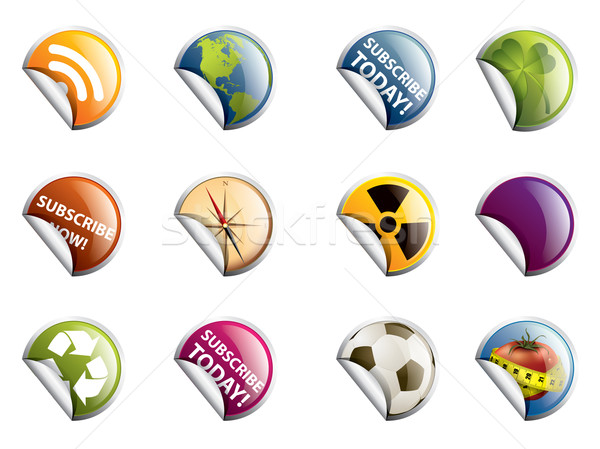 Various Badges, Isolated On White Background, Vector Illustratio Stock photo © graphit