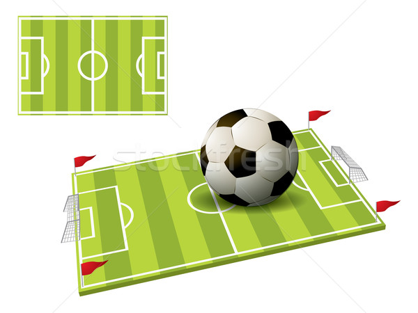 3d illustration of the football field isolated on white Stock photo © graphit