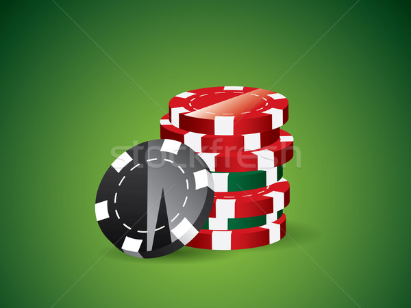Green poker background Stock photo © graphit