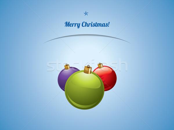Natal brilhante cartão postal luz vidro fundo Foto stock © graphit