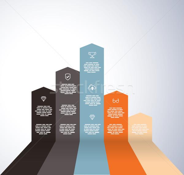 Gráfico ícones bar corporativo mercado Foto stock © graphit