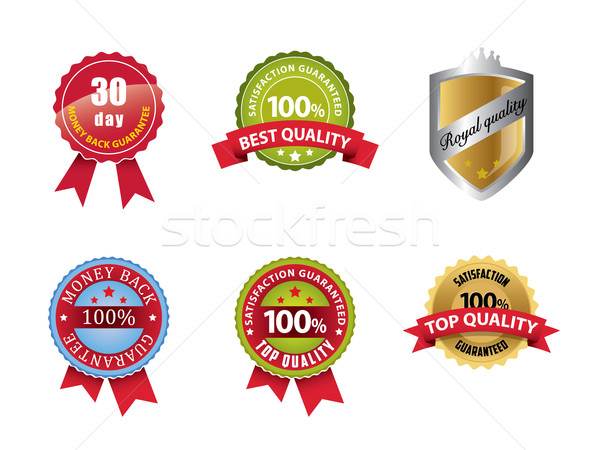 お金 戻る 保証された 100 満足 にログイン ストックフォト © graphit