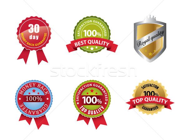Money Back Guaranteed and 100% Satisfaction Guaranteed Sign Set Stock photo © graphit