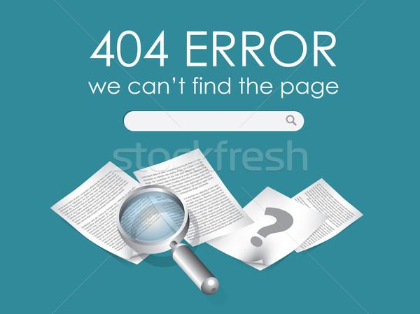 404 página no vector diseno tecnología Foto stock © graphit
