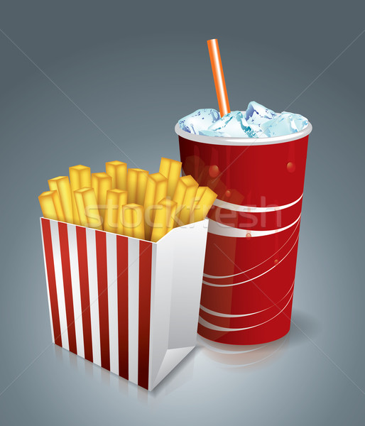 Stockfoto: Chips · soda · zak · witte