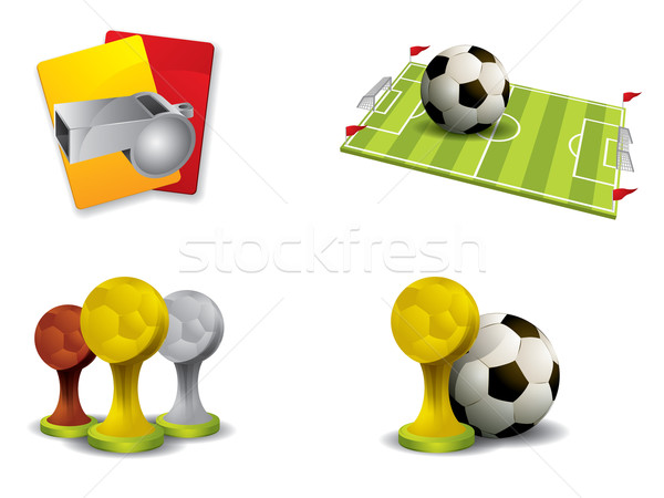 Soccer icon set vector Stock photo © graphit