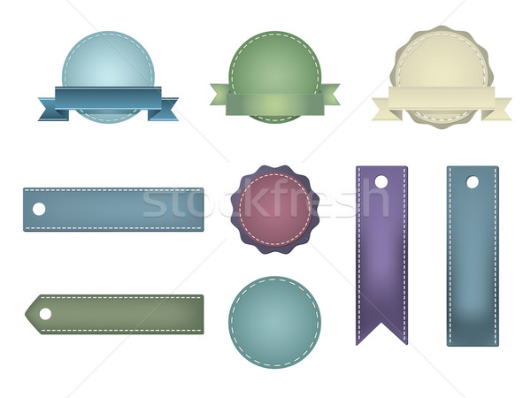 Vintage badges business ontwerp achtergrond Stockfoto © graphit