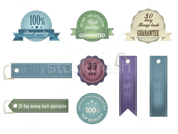 Vintage Styled Ribbons and Badges Stock photo © graphit