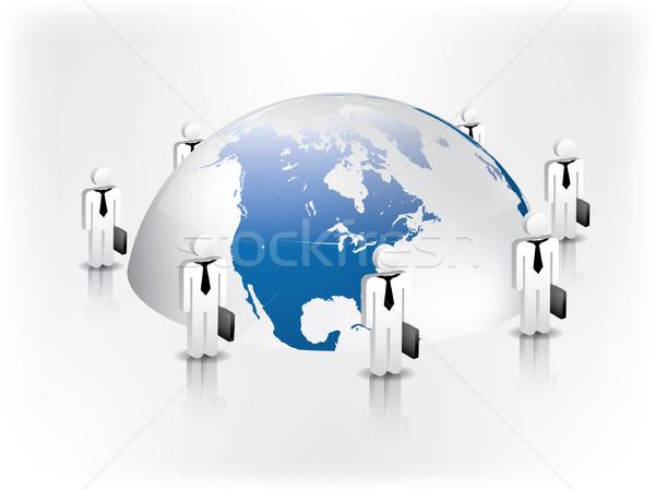 Zdjęcia stock: Global · business · sieci · spotkanie · ziemi · zespołu · komunikacji