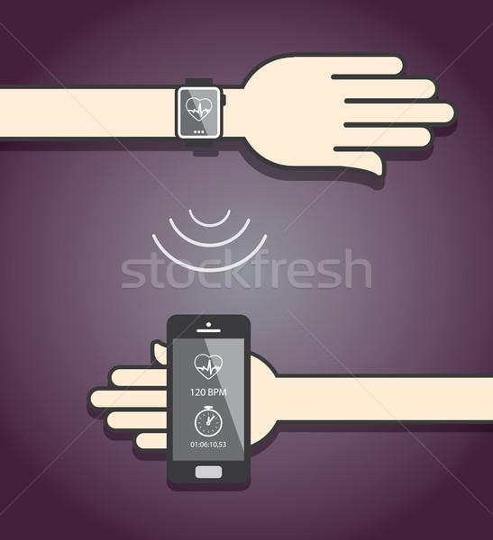 Iletişim uygunluk bilgi kablosuz Stok fotoğraf © graphit