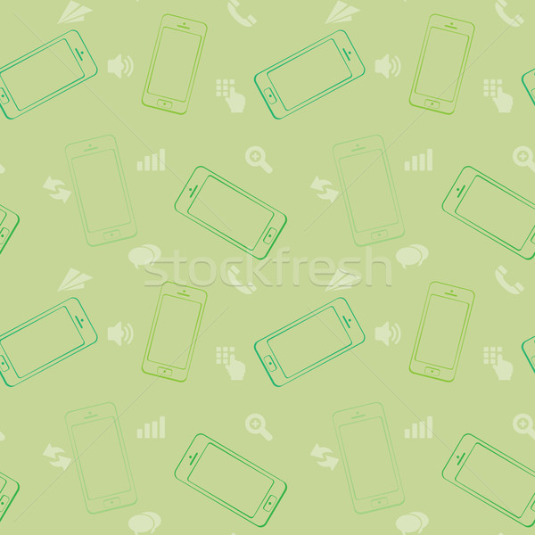 Mobile Devices, Smartphone, Seamless Pattern Background Stock photo © graphit