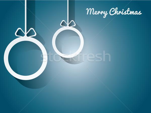 Foto stock: Natal · cartão · postal · fundo · quadro · inverno