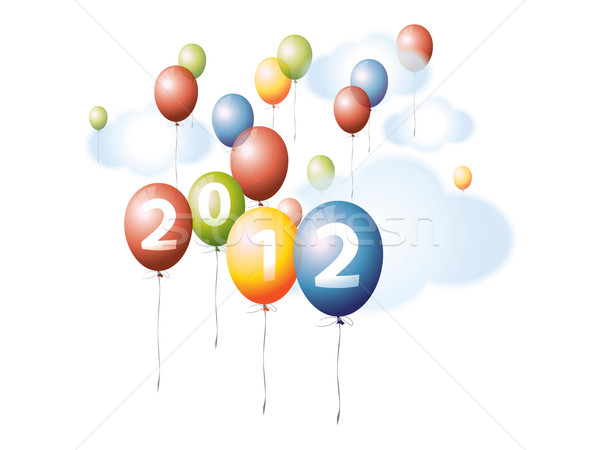 Colorful Balloons on the Sky 2012 Stock photo © graphit