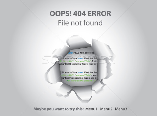404 Page not found Stock photo © graphit