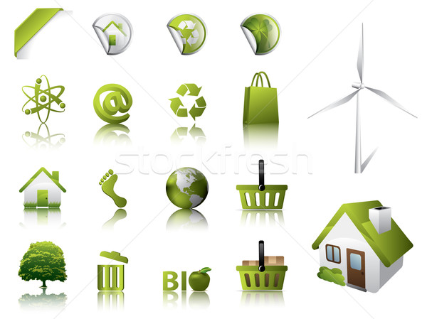 Eco Design Elements and Icons Stock photo © graphit