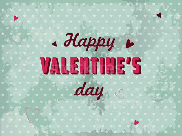 San valentino cartolina vettore cuore Coppia sfondo Foto d'archivio © graphit