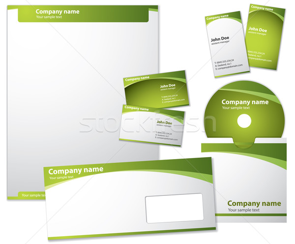 Modern style vector template Stock photo © graphit