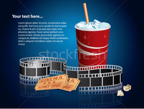 ソーダ 映写スライド チケット 食品 映画 ビデオ ストックフォト © graphit