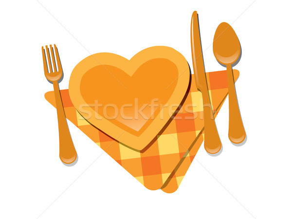 Heart shape plate Stock photo © graphit