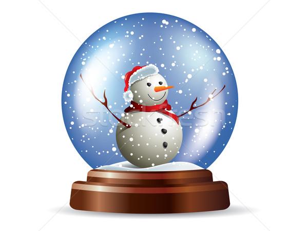 Muñeco de nieve nieve signo oro Navidad magia Foto stock © graphit