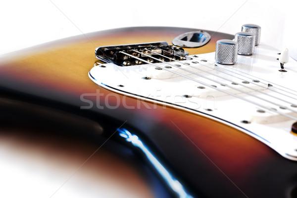 Elektromos gitár részlet fa gitár háttér koncert Stock fotó © grasycho