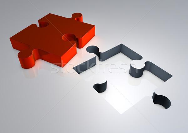 3d render kirakós játék megoldás izolált illusztráció üzlet Stock fotó © grasycho
