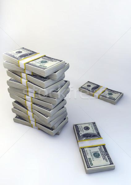 3D amerikai dollár bankjegyek illusztráció izolált Stock fotó © grasycho