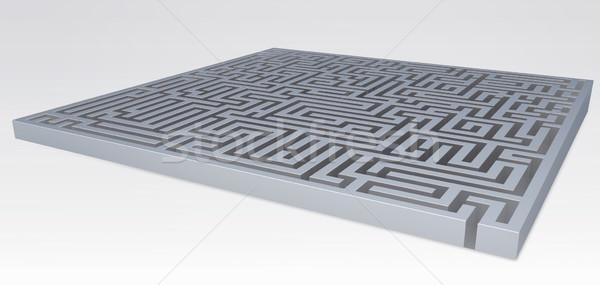 Absztrakt labirintus labirintus szög kilátás izolált Stock fotó © grasycho