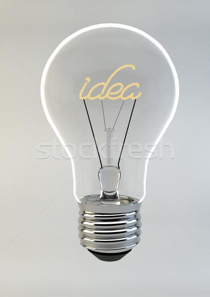 3d render villanykörte ír ötlet bent izolált Stock fotó © grasycho