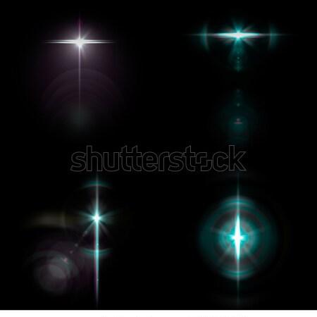 Lencse gyűjtemény optikai fekete égbolt buli Stock fotó © grasycho