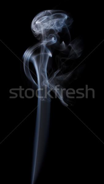 Természetes füst fekete víz tűz absztrakt Stock fotó © grasycho