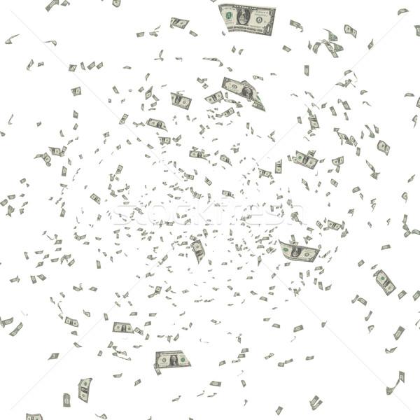Amerikai dollár repülés fehér 3d render illusztráció Stock fotó © grasycho