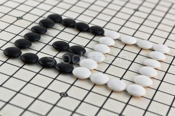 Hagyományos kínai társasjáték mező asztal halál Stock fotó © grasycho