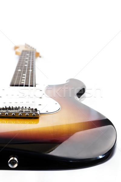 Elektromos gitár gitár koncert klub piros elektromos Stock fotó © grasycho