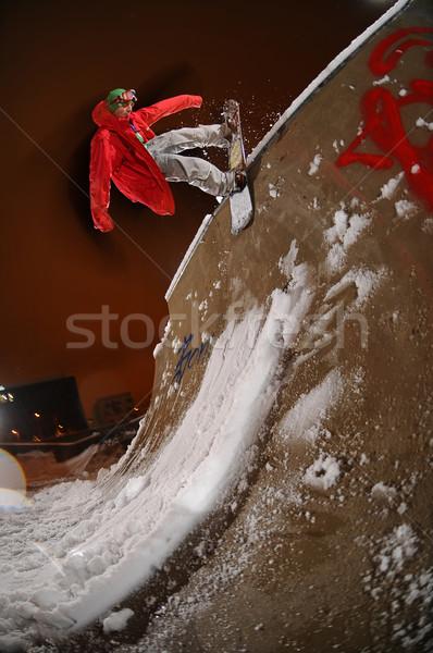 прыжки фристайл городского сноуборд снега Сток-фото © gravityimaging