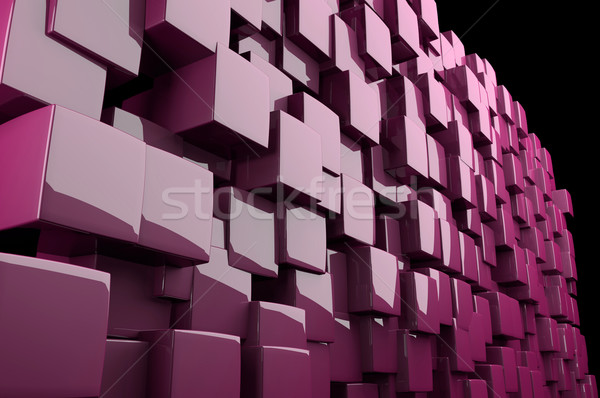 Abstract 3d pink cubes  Stock photo © gravityimaging