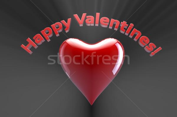 Сток-фото: счастливым · сердце · Дать · красный · освещение