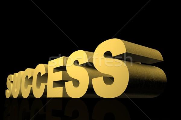 успех 3D золото Финансы черный концепция Сток-фото © gravityimaging