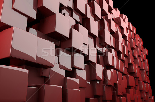 Abstract 3d red cubes  Stock photo © gravityimaging
