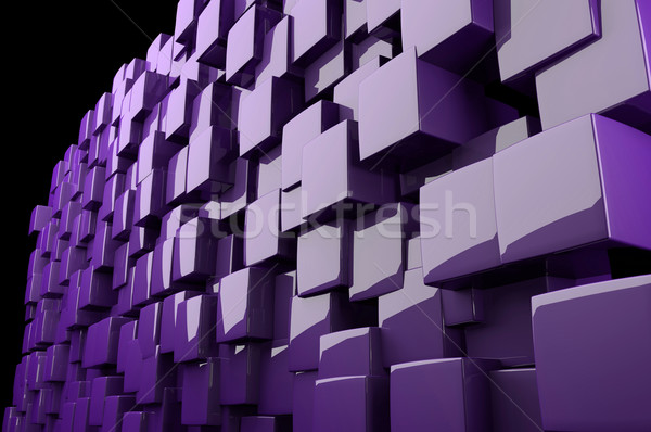 Abstract 3d purple cubes Stock photo © gravityimaging