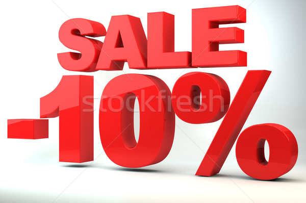 Sale - price reduction of 10%  Stock photo © gravityimaging