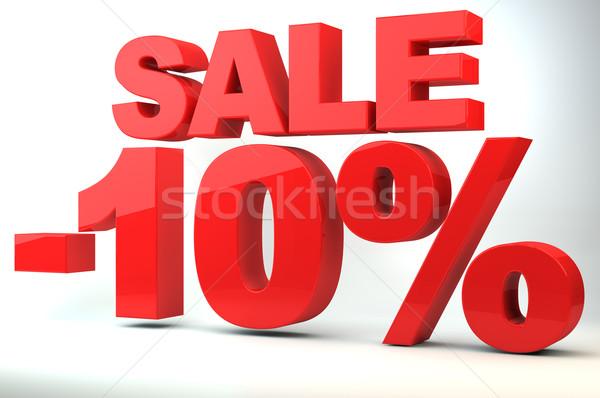 Venda preço redução 10 compras vermelho Foto stock © gravityimaging