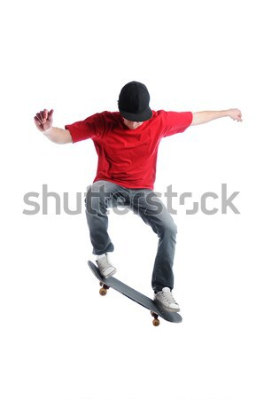 Skateboarder jumping Stock photo © gravityimaging