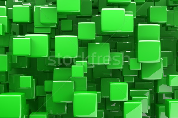 Résumé 3D vert cubes architectural design Photo stock © gravityimaging