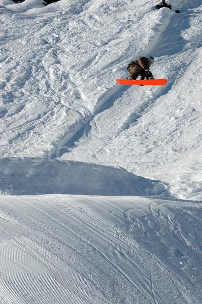 прыжки высокий гор снега весело Сток-фото © gravityimaging