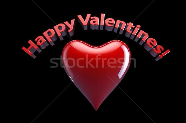 счастливым сердце фон красный письма Сток-фото © gravityimaging