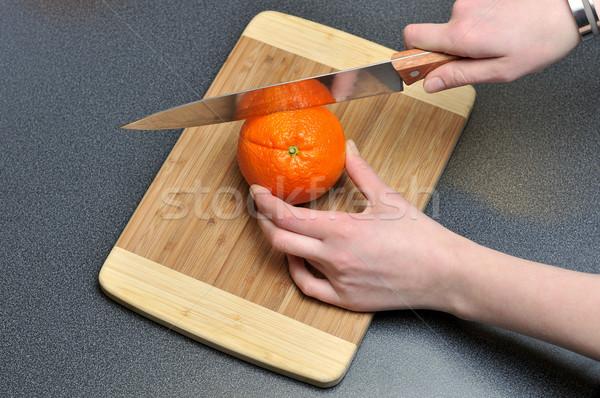 оранжевый таблице продовольствие фрукты Сток-фото © gravityimaging